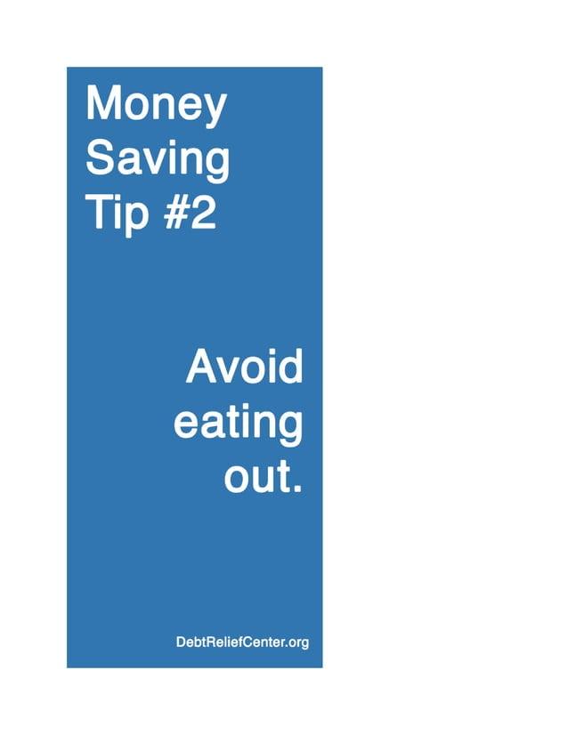 Money saving tip #2: Avoid eating out