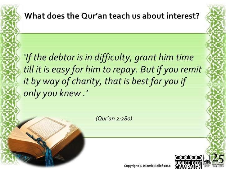 Interest Loans In Islam