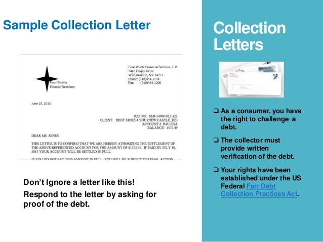 Debt collection letter - What do I do?