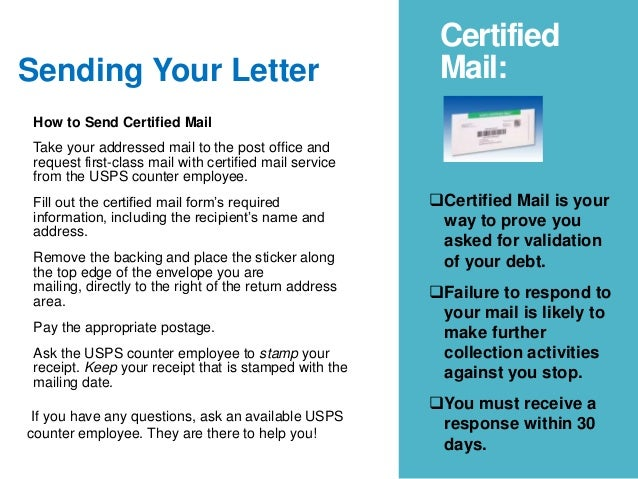 sending your letter certified mail how