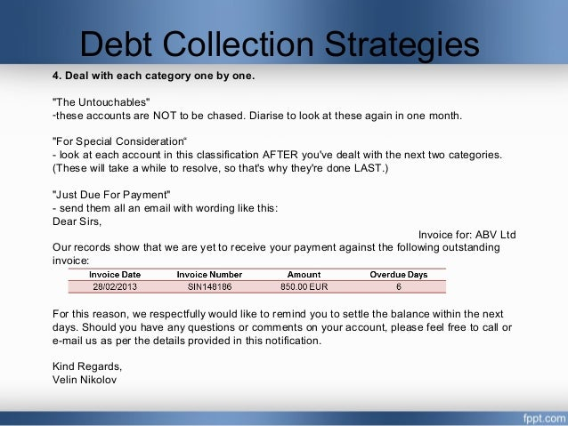 debt collection strategies