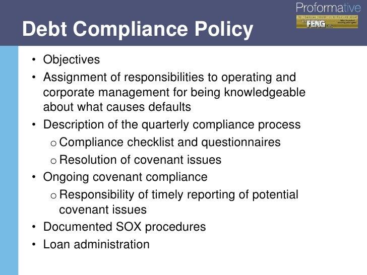 best practices in debt covenant management compliance