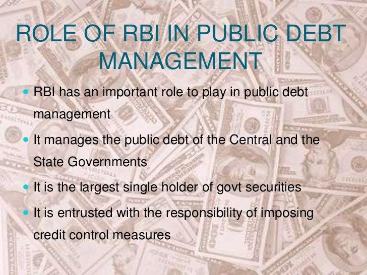 Public debt management function