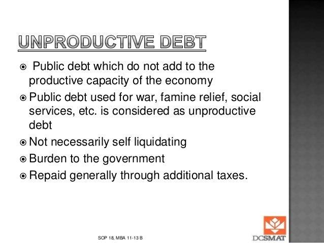 Principle of self liquidating debt consolidation