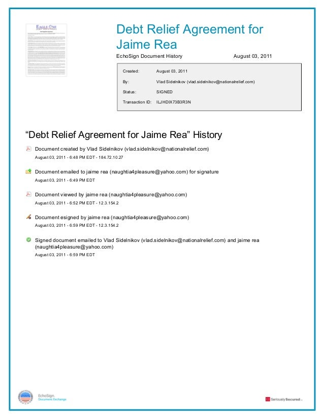Debt relief agreement for jaime rea signed (2)