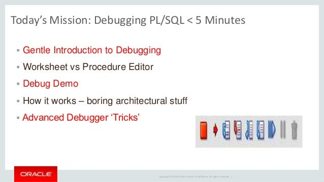 debugging pl sql with oracle sql developer