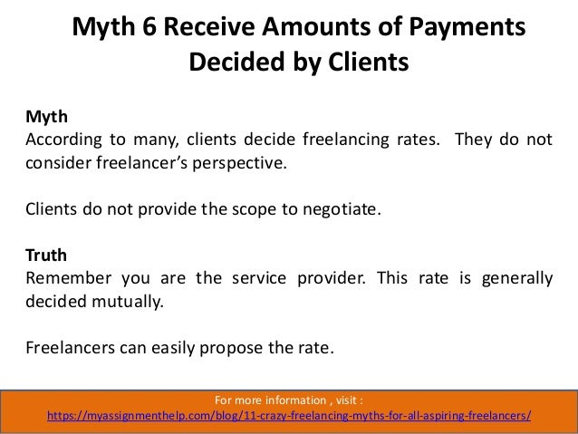 Myth 7 Stay at Home and Work in Accordance With Your Will For more information , visit : https://myassignmenthelp.com/blog...