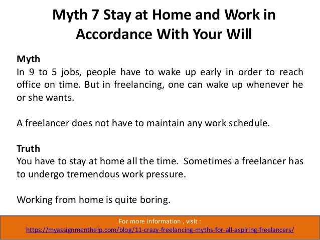 Myth 8 Choose Tasks According to Your Suitability For more information , visit : https://myassignmenthelp.com/blog/11-craz...