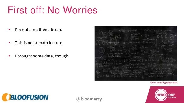 @bloomarty First off: No Worries • I'm not a mathematician. • This is not a math lecture. • I brought some data, though. i...