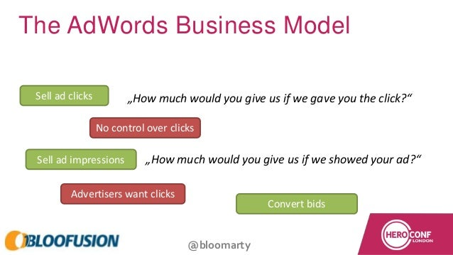 """@bloomarty The AdWords Business Model """"How much would you give us if we gave you the click?"""" """"How much would you give us i..."""