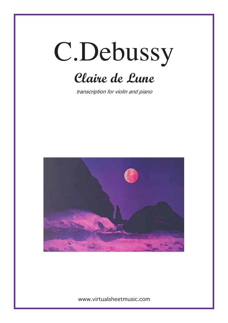 Piano free piano sheet music clair de lune : DOWNLOAD-CLAIRE DE LUNE