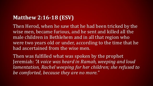 Merry Christmas? (Matthew 2:16-18)