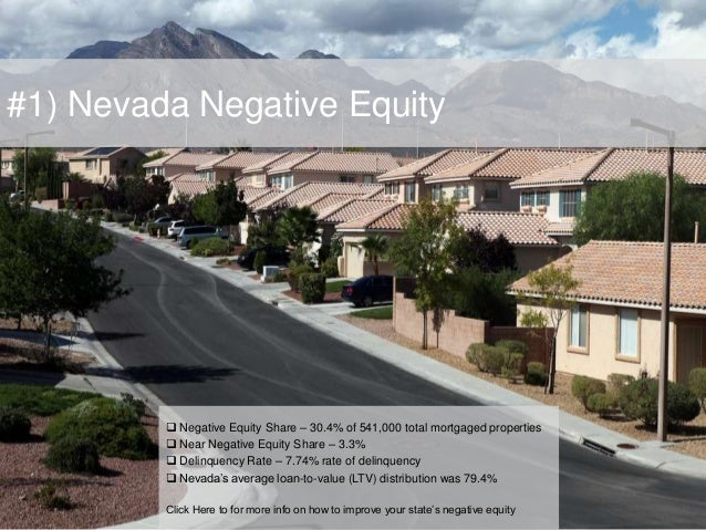 #1) Nevada Negative Equity  Negative Equity Share – 30.4% of 541,000 total mortgaged properties  Near Negative Equity Sh...