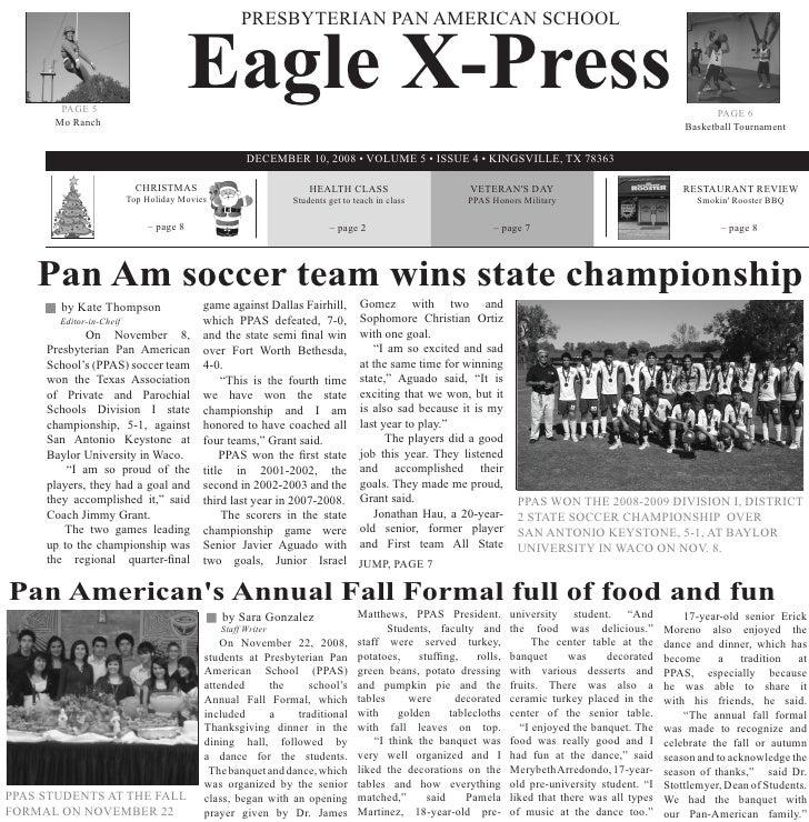 Eagle X-Press                                                    PRESBYTERIAN PAN AMERICAN SCHOOL           PAGE 5        ...
