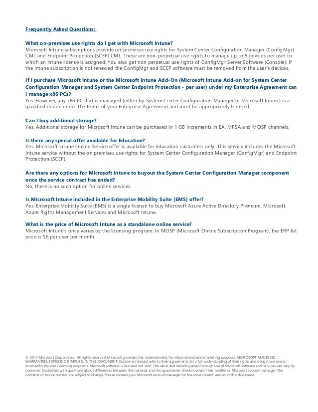 Microsoft Intune Licensing Faq From Atidan