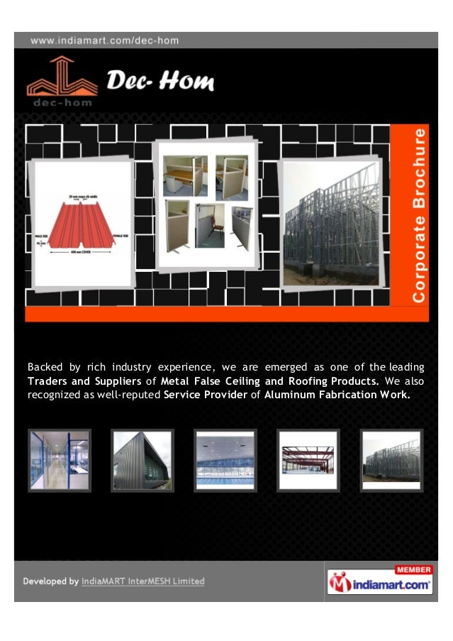Backed by rich industry experience, we are emerged as one of the leadingTraders and Suppliers of Metal False Ceiling and R...
