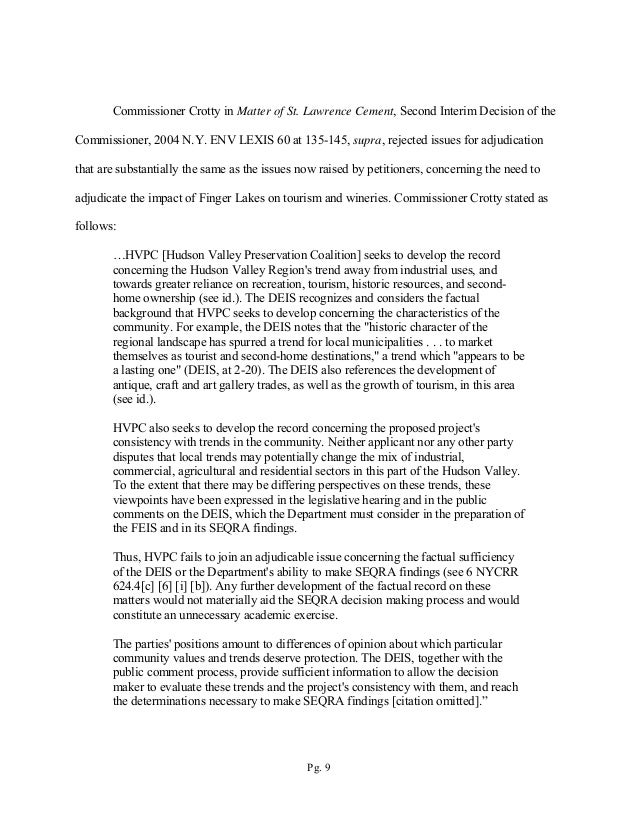 NY DEC Brief Filed Supporting Finger Lakes LPG Storage Facility