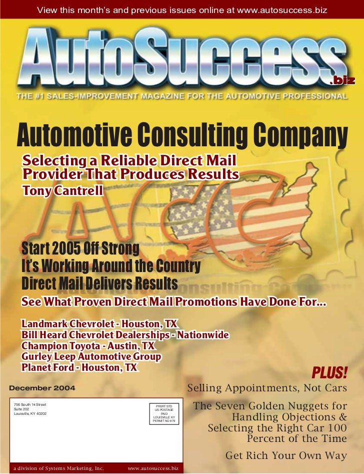 View this month's and previous issues online at www.autosuccess.biz                                                       ...