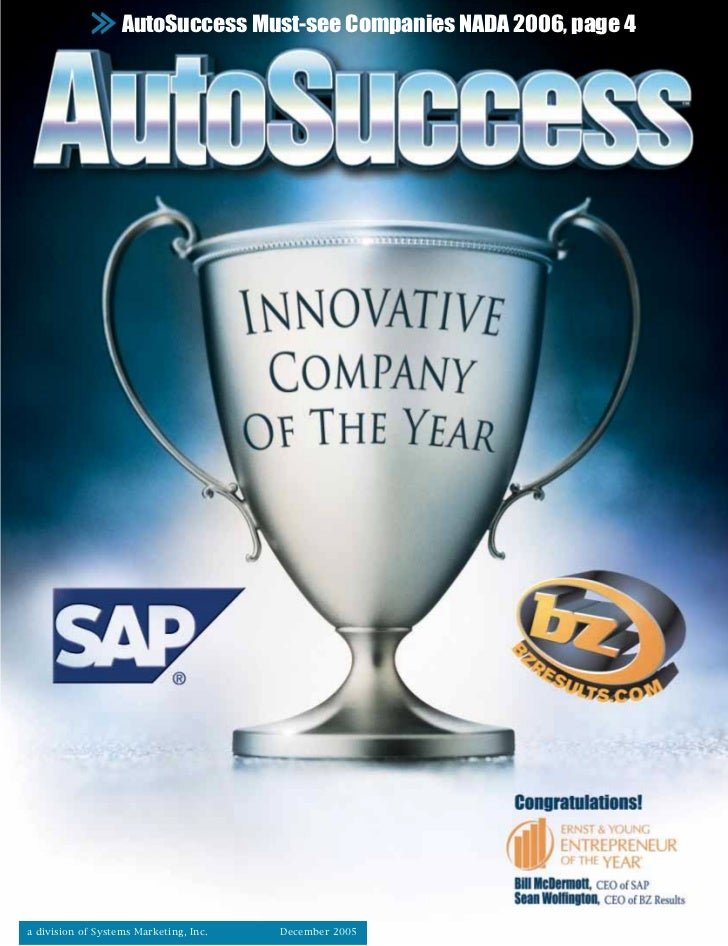 AutoSuccess Must-see Companies NADA 2006, page 4a division of Systems Marketing, Inc.   December 2005