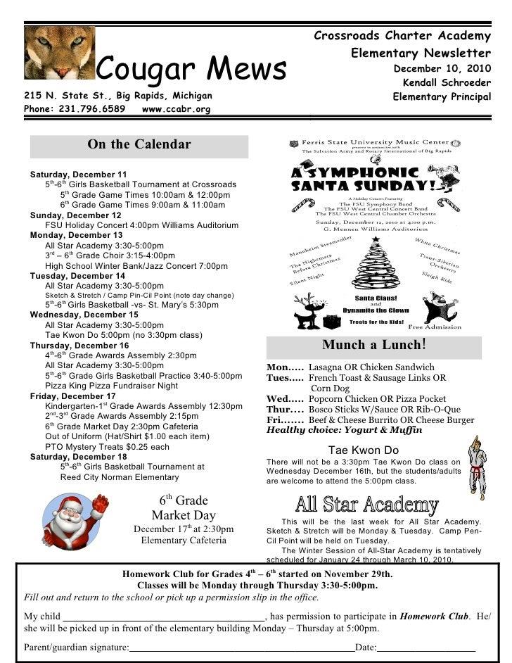 Crossroads Charter Academy                                                                                 Elementary News...