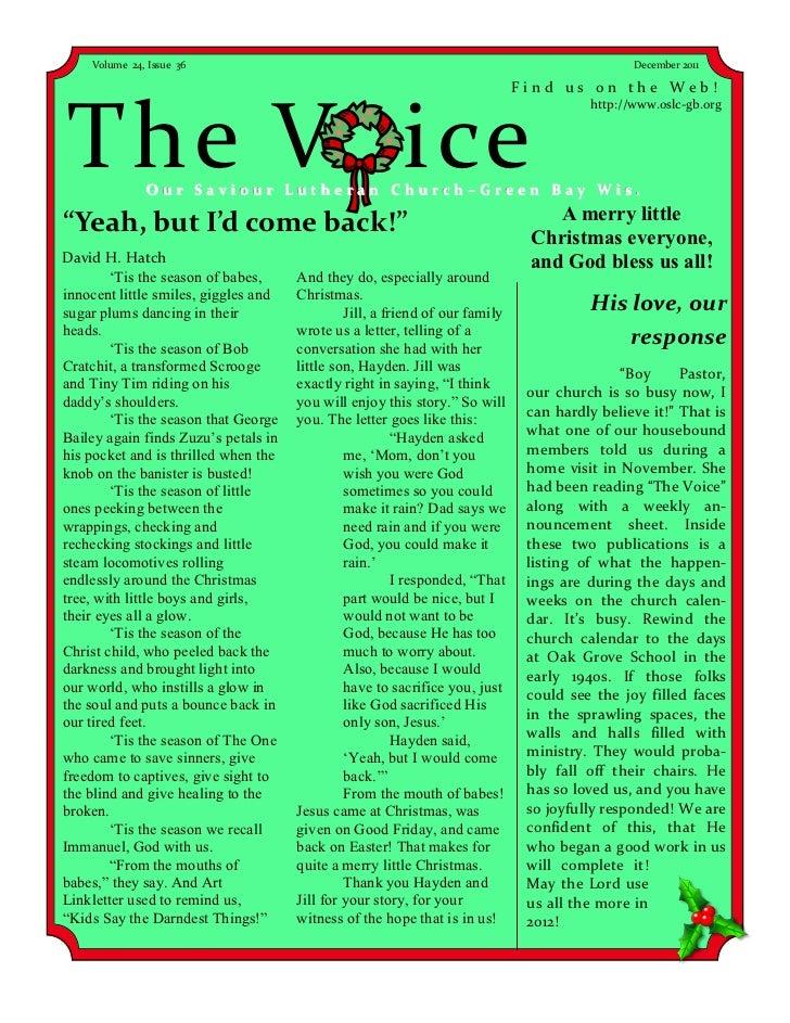 Volume 24, Issue 36                                                                        December 2011                  ...
