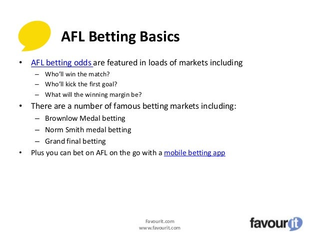 Compare afl betting odds federal political betting sites