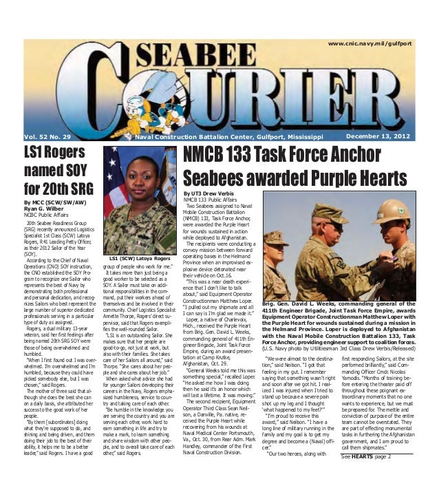 www.cnic.navy.mil/gulfportVol. 52 No. 29                                           Naval Construction Battalion Center, Gu...