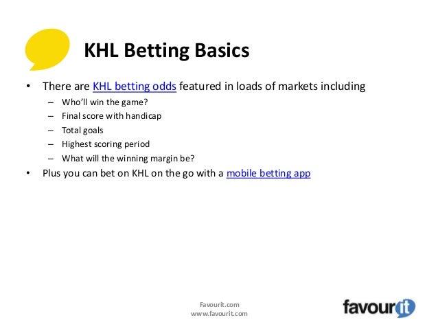 khl betting stats