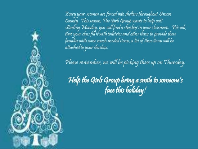 Every year, women are forced into shelters throughout Simcoe  County. This season, The Girls Group wants to help out!  Sta...