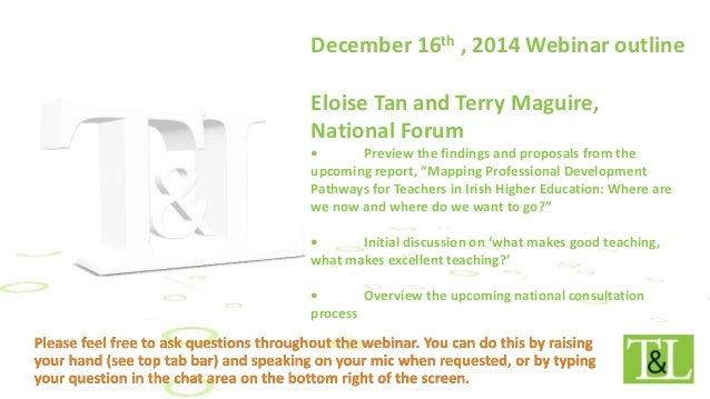 Free Webinar December 16th Developing >> National Forum Update On Professional Development Framework