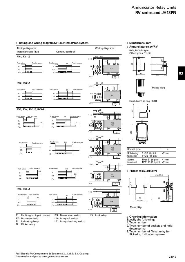 03 - Control Relays & Timer - Fuji Electric Hh P Power Relay Wiring on car relay wiring, horn relay wiring, control relay wiring, ac relay wiring,