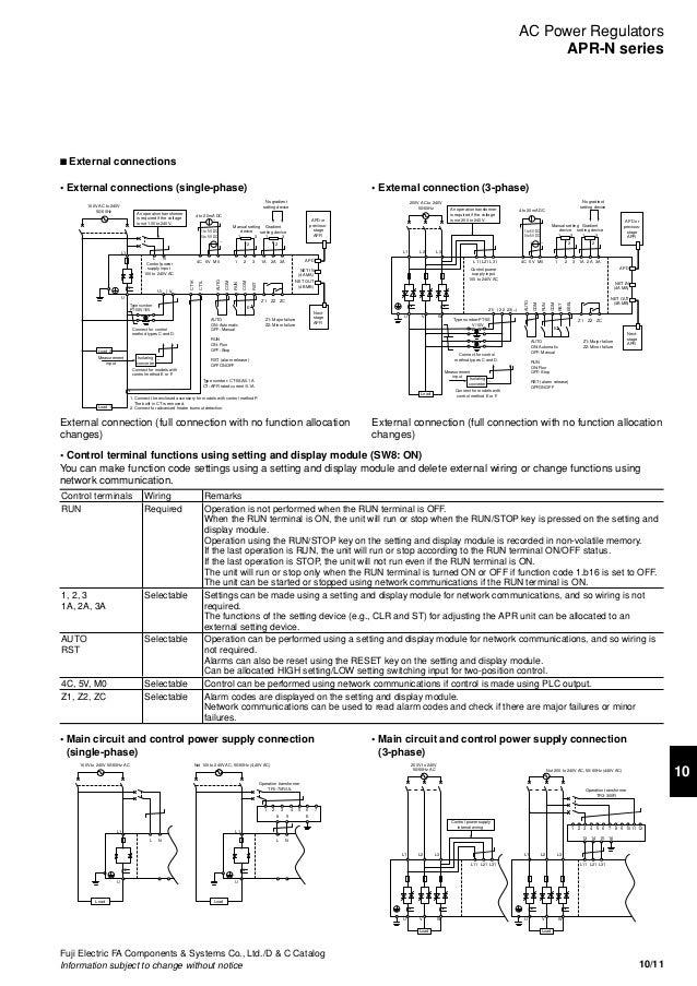10 - Ac Power Regulators & Control Power Transformers - Fuji Electric