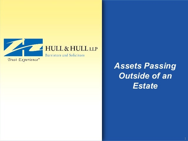 Assets Passing Outside of an Estate 1