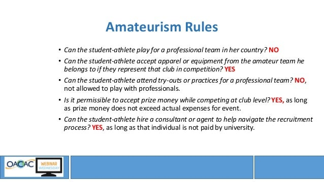 the redundancy of ncaa amateurism for collegiate athletes The amateurism principle governing college sports prohibits student-athletes from receiving compensation beyond tuition, room, and board, despite them garnering publicity, bolstering school pride, providing entertainment, and generating billions of dollars in revenue for the division i institutions they attend (sylwester & witosky, 2004.