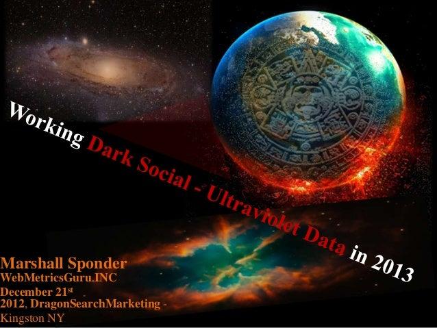 Marshall SponderWebMetricsGuru INCDecember 21st2012, DragonSearchMarketing -Kingston NY