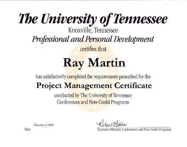Ut Project Management Certificate