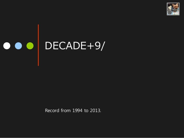 DECADE+9/ Record from 1994 to 2013.