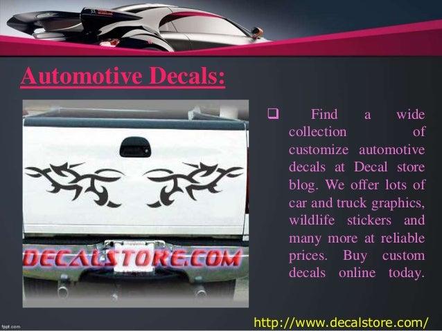 Best Design Stickers From Decalstore - Custom car decal maker online