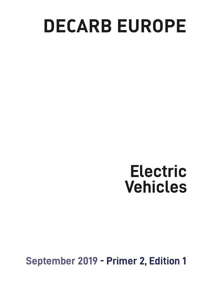 1 Electric Vehicles September 2019 - Primer 2, Edition 1