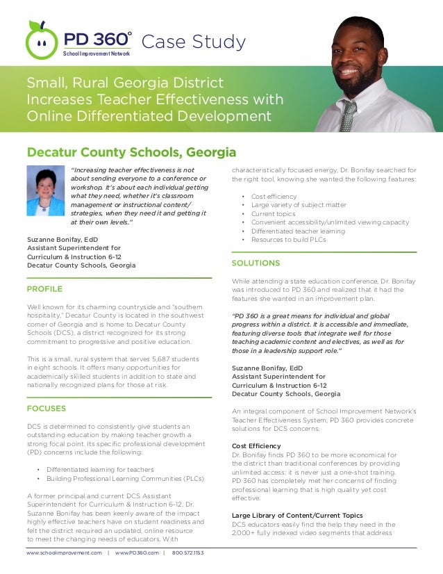 School Improvement Network                                         Case StudySmall, Rural Georgia DistrictIncreases Teache...