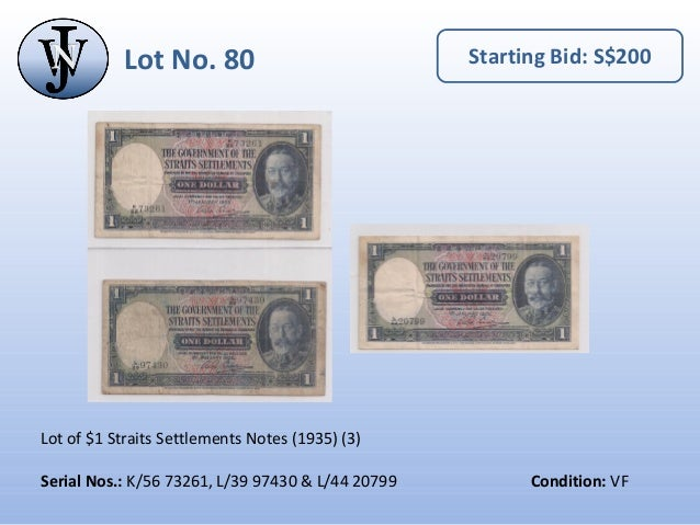 10 Dollars Lots of 2 notes STRAIT SETTLEMENT Reproductions