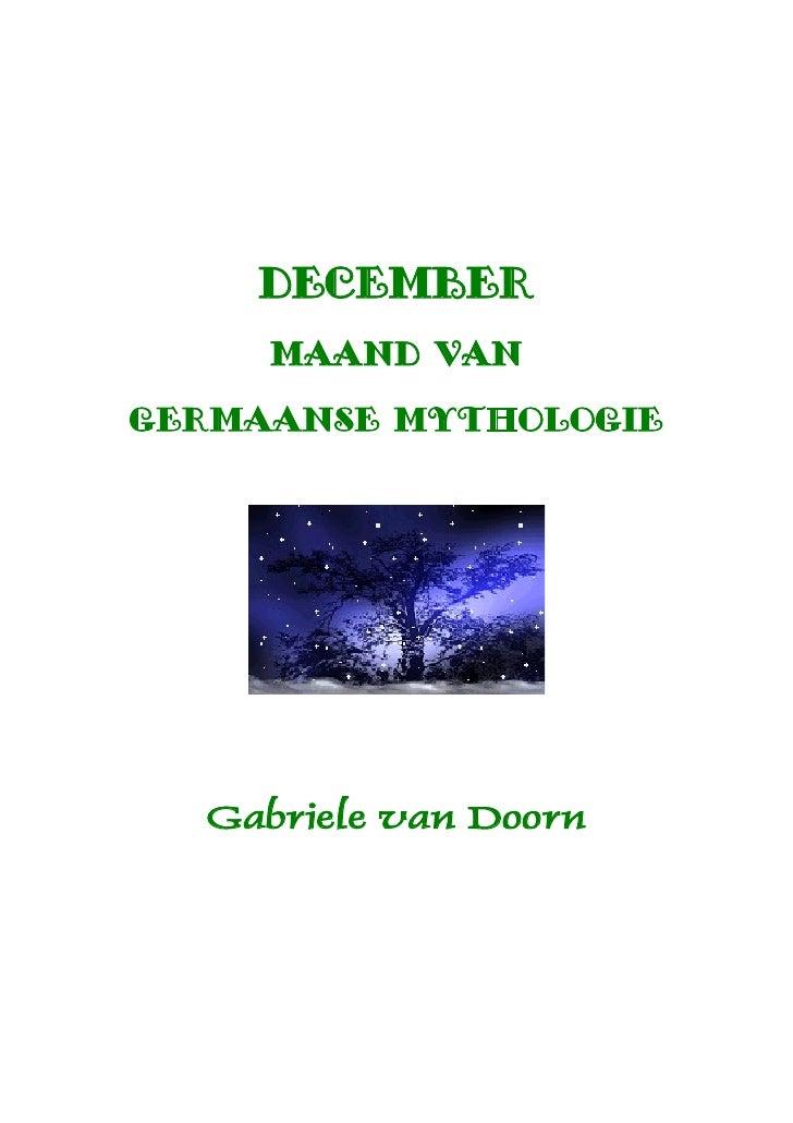december     maand vangermaanse mythologie  Gabriele van Doorn