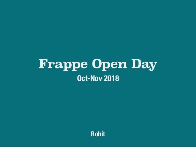 Vision for Frappe