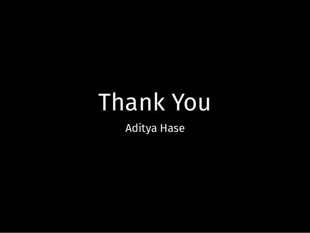 Thank You Aditya Hase