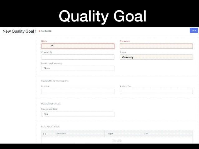 Quality Goal