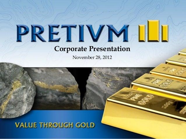 Corporate Presentation     November 28, 2012