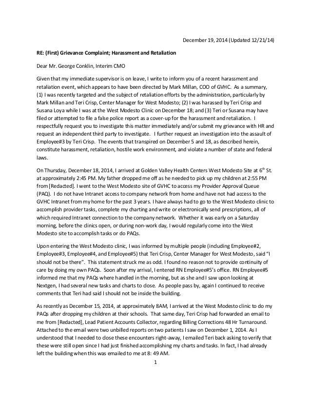 December 18 Greivance Letter Updated 12 21 14 Redacted