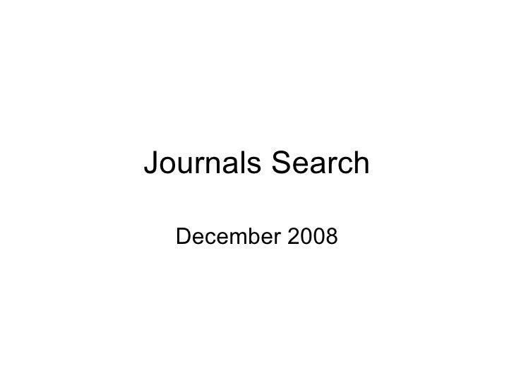 Journals Search December 2008