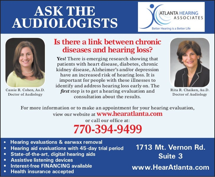 Ask The     AudiologisTs                         is there a link between chronic                            diseases and h...