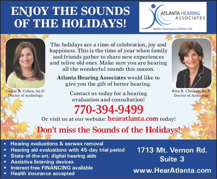 Enjoy thE sounds     of thE holidays!                         The	holidays	are	a	time	of	celebration,	joy	and	            ...